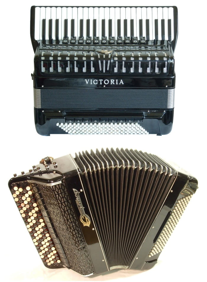 Types of the accordion