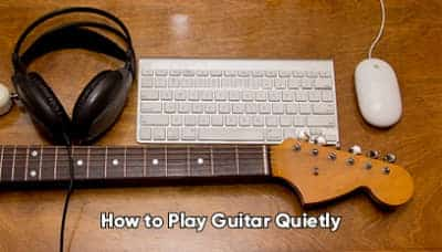 How can I play guitar quietly at night